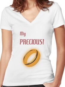 My Precious! Women's Fitted V-Neck T-Shirt