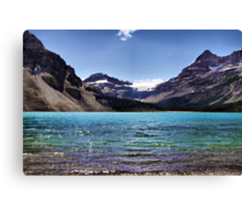 From the Shore of Bow Lake Canvas Print