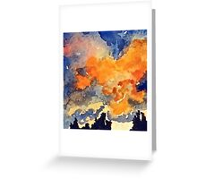 Red Sky Greeting Card