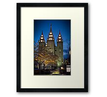 An Evening at Temple Square - 3 Framed Print