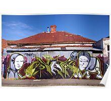 Corrugated Street Art Poster