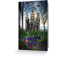An Evening at Temple Square - 6 Greeting Card