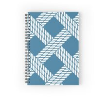 Navy blue nautical rope pattern Spiral Notebook