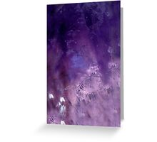 PURPLE REIGN Greeting Card