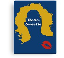 Doctor Who River Song Hello Sweetie  Canvas Print