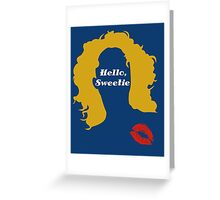 Doctor Who River Song Hello Sweetie  Greeting Card