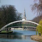 Suspension Bridge over River Ouse - Bedford UK by Craig Stronner