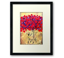Red Bouquet #3 Framed Print
