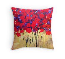 Red Bouquet #3 Throw Pillow