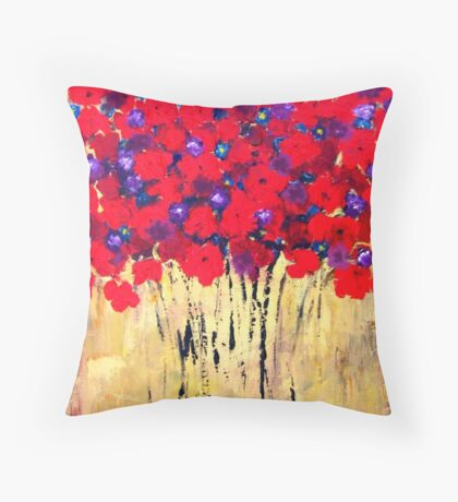 Red Bouquet #3 Throw Pillow