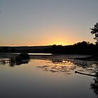 sunset over the river by Adrian Ross-New