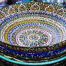 Turkish ceramics in the Grand Bazaar, Istanbul by Bruno Beach