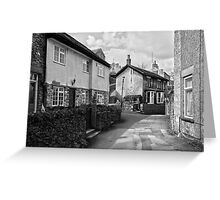 Village Cottages, Castleton Greeting Card