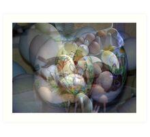 SCRAMMBLED  EASTER-EGGS Art Print