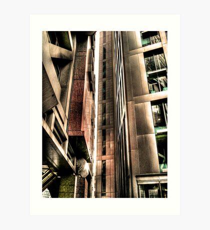 Steel Lines (HDR) Art Print