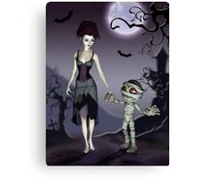 Halloween Love Canvas Print