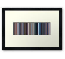 Moviebarcode: Monsters, Inc. (2001) [Simplified Colors] Framed Print