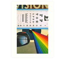 The Horizontal Eye Test. Art Print