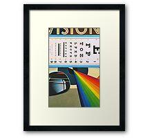 The Horizontal Eye Test. Framed Print