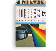 The Horizontal Eye Test. Canvas Print