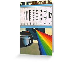 The Horizontal Eye Test. Greeting Card