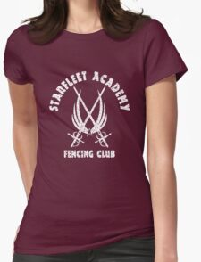 Exclusive Starfleet Academy Fencing Club Womens Fitted T-Shirt
