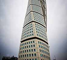 Twisted Tower Building Malmo Sweden by Warren. A. Williams
