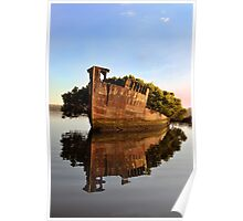Sun rise over seas - Homebush Bay Shipwrecks Poster