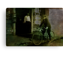 Delivery Boy Canvas Print