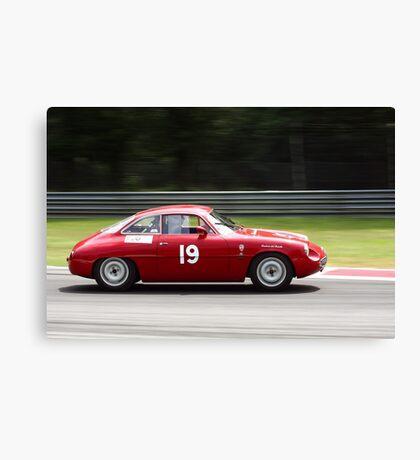 racing vintage cars Canvas Print