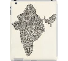 Lettering map of India iPad Case/Skin