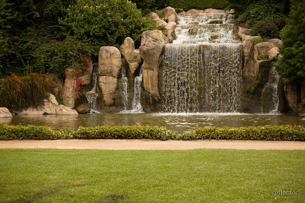 The Waterfall - Hunter Valley Gardens Series by reflector