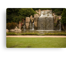 The Waterfall - Hunter Valley Gardens Series Canvas Print