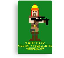 Firefly 8 Bit Thrilling Heroics Canvas Print