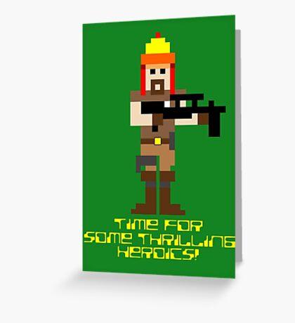 Firefly 8 Bit Thrilling Heroics Greeting Card