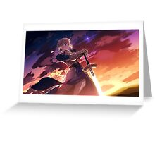 Fate/Stay Night - Saber Poster Greeting Card