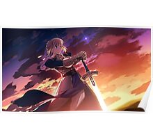 Fate/Stay Night - Saber Poster Poster
