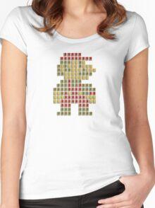 Nes Cartridge Mario Women's Fitted Scoop T-Shirt