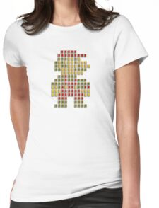 Nes Cartridge Mario Womens Fitted T-Shirt