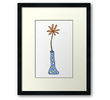 I wonder what happens if you drink from this vase... Framed Print
