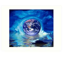 Earth and see Art Print