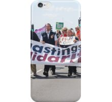 Austerity protest march, Hastings iPhone Case/Skin