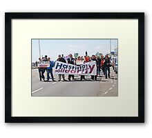 Austerity protest march, Hastings Framed Print