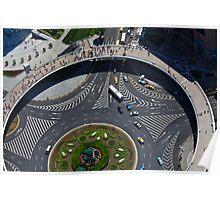 Birds eye view-Shanghai Poster