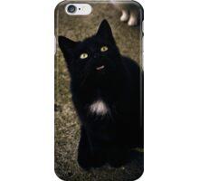 Black Cat Smile iPhone Case/Skin