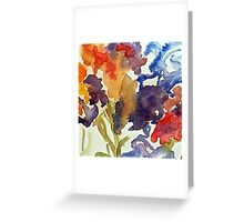Abstract of Irises Greeting Card