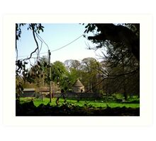 Springtime in Cranford St Andrew Art Print