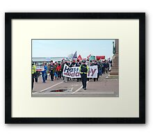 Anti austerity protest, Hastings Framed Print