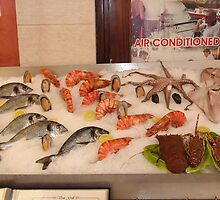 Fish Display, Rethymno Harbour, Crete, Greece by Francis Drake