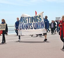 Austerity march, Hastings by David Fowler
